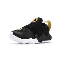 【1件4折】耐克(Nike)新款HUARACHE儿童鞋 舒适男童休闲鞋 轻便跑步运动鞋 小童 AH7827-007 黑色