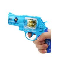 宝宝耐摔声光玩具枪 男孩音乐枪1-2-3-4岁小孩警察小儿童玩具男孩儿童宝宝玩具六一儿童节礼物 神枪手(蓝色) 送2节