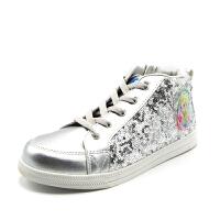 【品牌秒杀】鞋柜童鞋 女童鞋运动休闲板鞋系带时尚女童t-tt