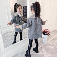 2019秋冬季新款韩版女童呢子外套中大童加厚毛呢大衣