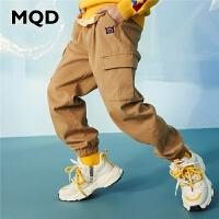 【2件3折:129】MQD童装男童净色休闲裤2020春装新款儿童工装长款百搭洋气长款潮