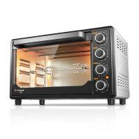 长帝电烤箱TRTF32 银色 上下独立控温 内置照明 解冻 食物 恒温发酵 饼干蛋糕烤箱