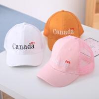 儿童棒球帽夏季3-8岁男女童鸭舌帽子韩版潮中童遮阳宝宝刺绣