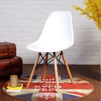 北欧伊姆斯餐桌椅简约现代懒人创意白色会客凳家用电脑靠背书桌椅