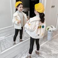 2019秋季新款洋气韩版童装女孩加厚加绒上衣女童秋冬装外套