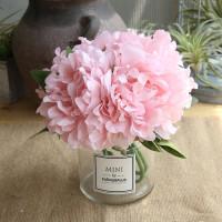 仿真牡丹花绣球花套装家居客厅装饰塑料假花绢花小盆栽花艺摆件