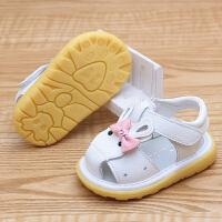 夏季婴儿软底包头凉鞋0-1-2岁女童公主鞋宝宝透气凉鞋学步鞋