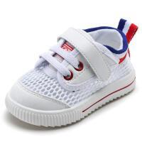 1-3岁宝宝鞋子婴儿学步鞋软底鞋夏季儿童小白鞋凉鞋透气网鞋