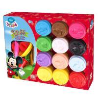玩具开学季3d彩泥儿童玩具12色橡皮泥粘土玩具套装幼儿园手工玩具