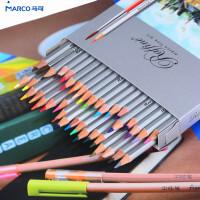 MARCO 马可 7120 24色 36色 水溶性彩色 铅笔套装纸盒彩色铅笔