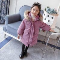 女童棉衣冬装2018新款洋气韩版童装加厚棉服中长款棉袄儿童外套冬