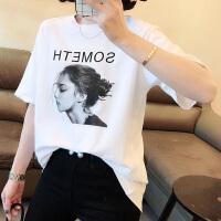 欧洲站女装2020新款夏装韩版打底衫Ins潮宽松棉短袖白色t恤女上衣