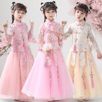 女童汉服夏装公主裙儿童装裙子女孩洋气套装连衣裙