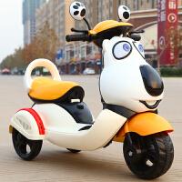电动脚踏车儿童新款电动摩托 车2-4-6岁宝宝可坐电动三轮车充电玩具车电瓶车QL-77