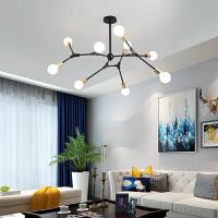 后现代吊灯简约北欧客厅吊灯具设计师大气铁艺吊灯创意个性餐厅灯