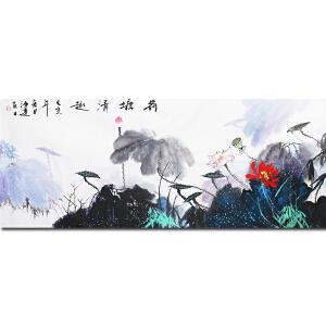 中国书画家协会会员、著名女画家刘 翠 莲老师作品――荷塘清趣