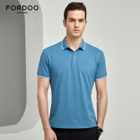 虎都短袖POLO衫男装纯色商务休闲保罗衫T恤VST222
