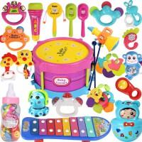 0-1岁宝宝玩具3-6-12个月新生儿牙胶摇玲套装幼儿手摇铃婴儿玩具