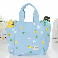 新品�э�手提袋子帆布��咪包小拎包�n版午餐便��包大�b�盒袋的手提包 天�{�坌�