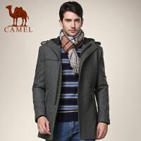 CAMEL 骆驼男装 男士羊毛呢大衣中长款风衣毛呢外套