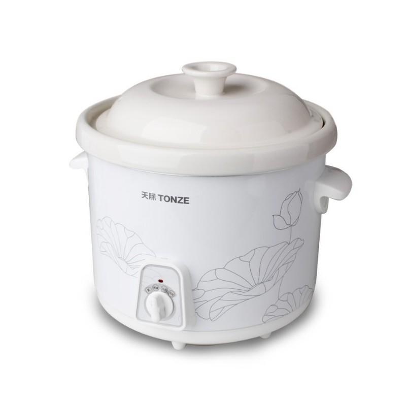 Tonze/天际 DDG-40N煲汤锅 陶瓷炖锅 白瓷内胆电炖锅煮粥锅4L慢炖 清仓处理 特价促销