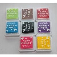 韩国 八色盒装印油印泥 印章* 小印章用印油 印泥 DIY相册