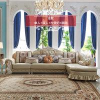 【新品热卖】欧式布艺沙发组合转角贵妃小户型L型客厅法式沙发G2 组合