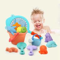 儿童沙滩玩具套装玩沙子挖沙漏铲子工具宝宝洗澡玩具 5件套沙滩+ 戏水玩具