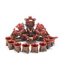 【好店】陶瓷�腥巳�自�硬杈咛籽b功夫茶杯�^�V泡茶�仵�貅家用��意�_茶