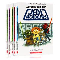 Star Wars: Jedi Academy 5册合售 英文原版 漫画版课外读物儿童小说 冒险章节桥梁故事书 Sch