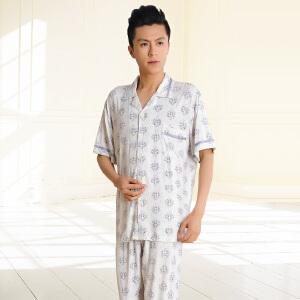 金丰田 男士夏季短袖清凉睡衣家居服套装1745