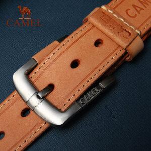 CAMEL 骆驼 头层牛皮休闲腰带 男士百搭压线皮带