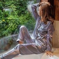 月子服夏季透气休闲莫代尔睡衣女春秋薄款棉睡袍夏季女士长袖家居服月子服套装ZT-02