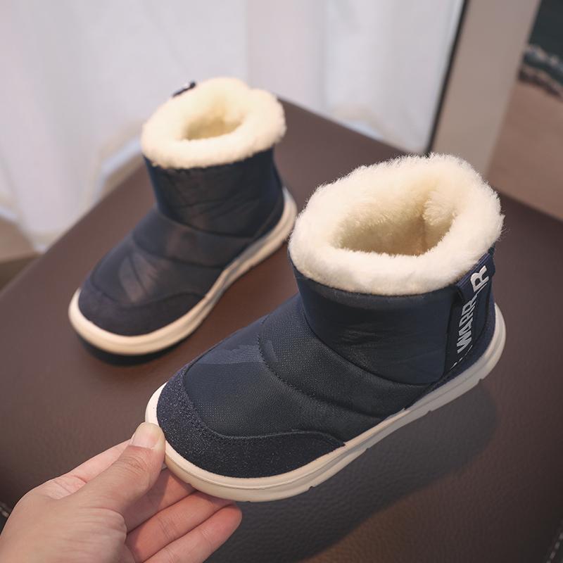 回力童鞋旗舰店儿童雪地靴男童鞋子2019冬季新款男孩加绒防滑棉鞋