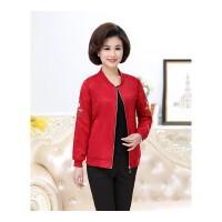 中老年女装外套新款中年人春季薄短款长袖上衣50妈妈春装夹克