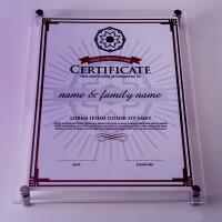 挂墙水晶相框 有机玻璃 10 12寸A4 16寸证书奖状框定制尺寸