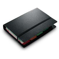得力 5777 活页120张名片册 彩色分类索引标签 捆绳设计
