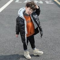 童装男童冬装棉衣2018新款宝宝中长款棉袄儿童男孩韩版棉服外套酷