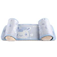 婴儿用品婴儿枕头防偏头定型枕0-1-3岁宝宝枕头荞麦定型枕 +蓝色枕席
