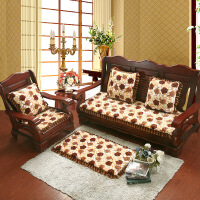 坐垫加厚加厚毛绒单人垫子三人实木沙发座垫红木长椅垫冬季坐垫可拆洗椅垫