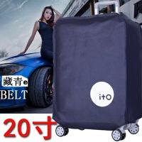行李箱外罩 外套�姿�托�\外罩20寸套子30寸��m罩26寸行李箱保�o套24寸拉�U箱A 藏青色20寸 �Y物�S�C配送