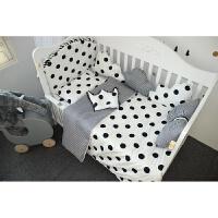 婴儿床品ins北欧婴儿床围新生儿床防撞护栏可拆卸宝宝床品八件套床围ZQ-YS011