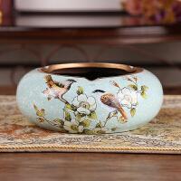创意欧式烟灰缸奢华客厅个性复古简约陶瓷时尚高档家居装饰品摆件