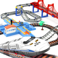 立昕 高速交通线和谐号轨道汽车+火车轨道 儿童益智拼搭玩具 3-7