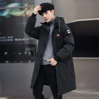 新款中长款男士棉衣外套棉衣男士外套冬季新款韩版潮流冬天羽绒加厚短款冬装棉袄 黑色 M