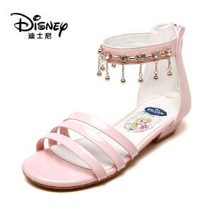 【达芙妮超品日 2件3折】Disney/迪士尼女童冰雪女王系列波西米亚风格时尚儿童凉鞋