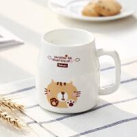早餐牛奶杯带盖冲泡杯子可爱超萌小清新儿童创意潮流马克水杯