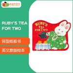 Max and Ruby系列之 Ruby's Tea for Two 异型纸板书撕不破一起过家家开发想象力