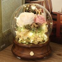 永生花蓝牙音响音箱玻璃罩结婚纪念日玫瑰情人节女友生日礼物