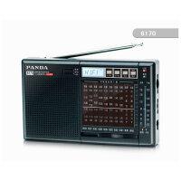 熊猫6170 全波段立体声插卡式收音机MP3播放器老年人收音机 礼物